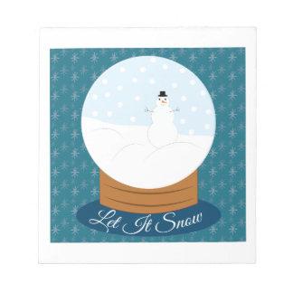Let It Snow Scratch Pads