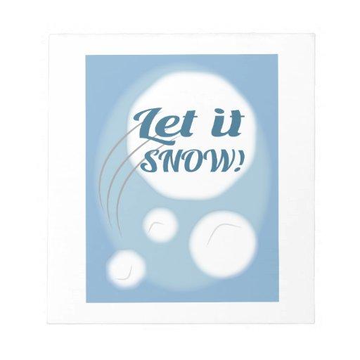 Let it Snow Note Pad