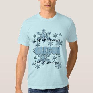 Let it Snow Oregon Light Blue T-shirt