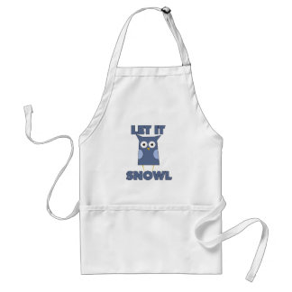 Let it Snow Owl Adult Apron