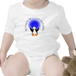 Let it Snow Penguin Baby Shirt shirt