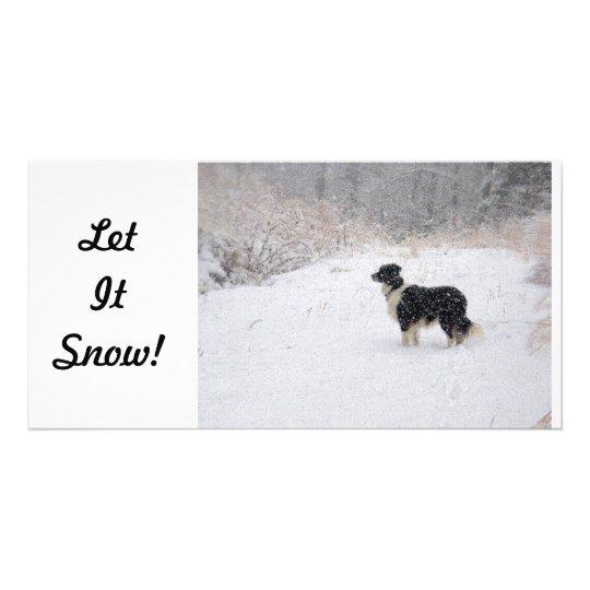 Let It Snow!  Photo Card