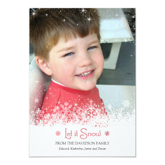Let it Snow Photo Card Invitations