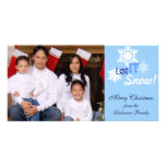 Let It Snow Photo Christmas Card Photo Card Template