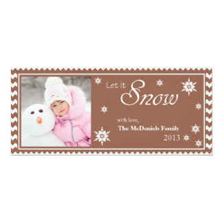 Let It Snow Photo Christmas Flat Card
