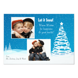 Let it Snow - Photo Holiday Card