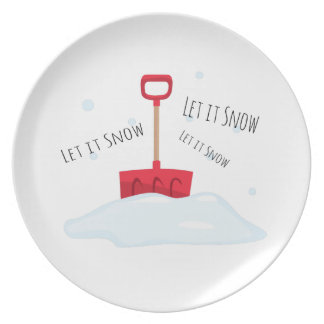 Let It Snow Plate