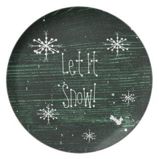 Let It Snow Plate