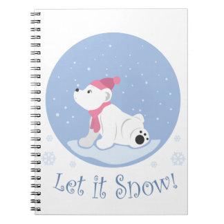 Let It Snow! (Polar Bear Cub) Notebook