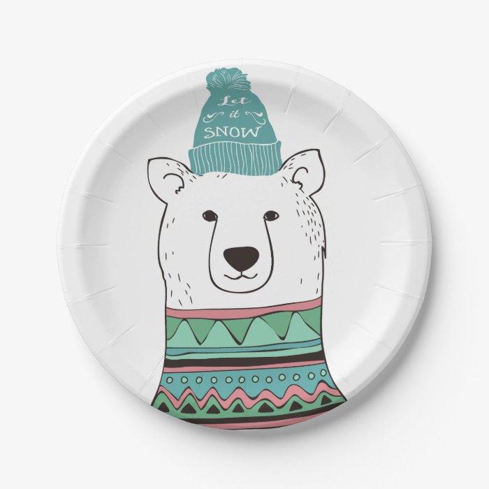 Polar Bear Party Plates Birthday Party Polar Bear Balloons