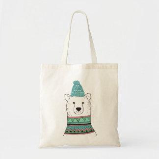 Let It Snow Polar Bear Tote Bag