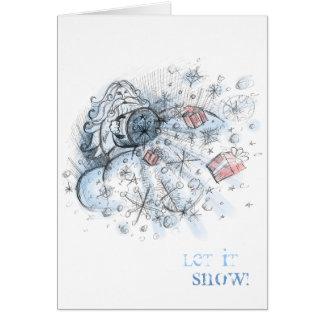 Let It Snow Portrait Card