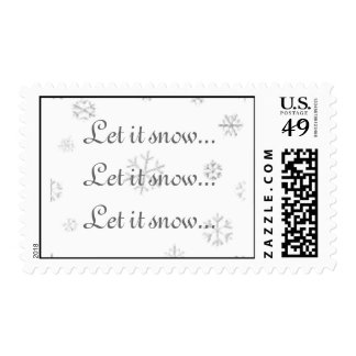 Let it snow postage stamp