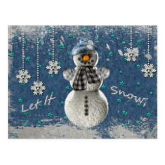 Let It Snow Post Cards
