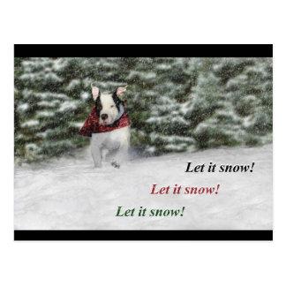Let it Snow! Postcard