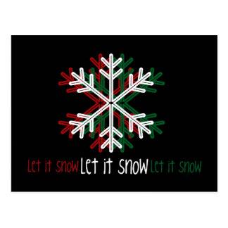 Let it snow. [Postcard]