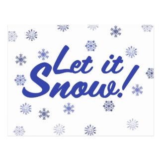 Let it Snow Postcard