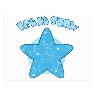 Let it Snow Postcard