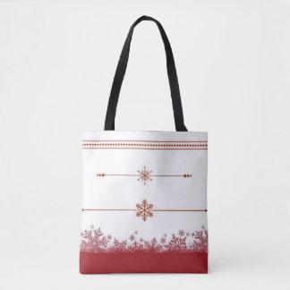 Let it snow razzle red tote bag