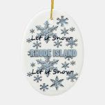 Let it Snow Rhode Island Christmas Ornament