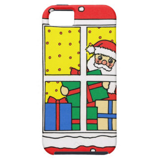 Let it snow!, Santa at work iPhone SE/5/5s Case