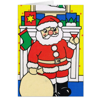 Let it snow!, Santa enjoying a glass of wine Card