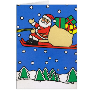 Let it snow!, Santa is flying tonight Card