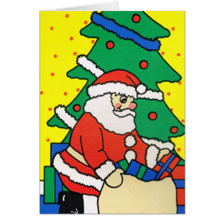 Let it snow!, Santa with his sack of gifts Card