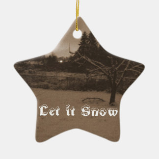 Let it Snow Scene Star Ornament