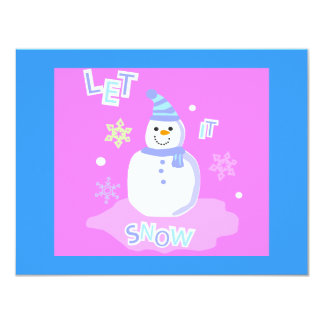 let it snow screen 4.25x5.5 paper invitation card