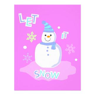 let it snow screen flyer