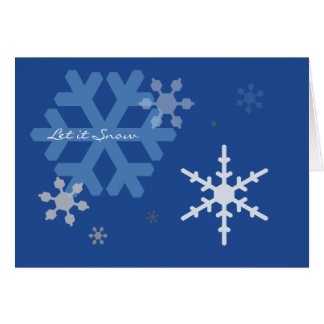 Let It Snow - Season's Greetings Template Card