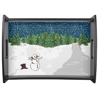 Let it Snow Service Trays
