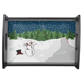 Let it Snow! Serving Platters