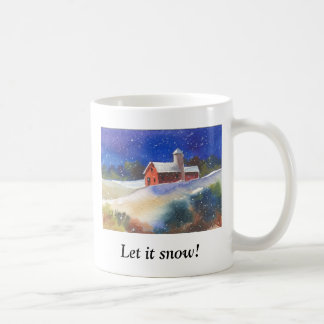Let it snow!  Silent Night Farm Coffee Mug