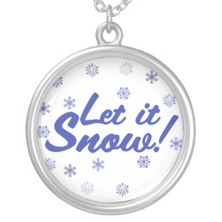 Let it Snow Silver Plated Necklace