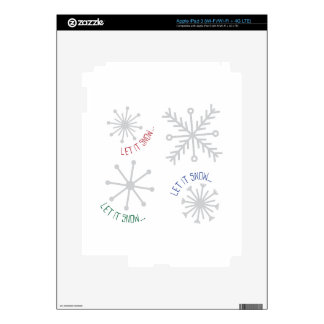 Let It Snow Skin For iPad 3