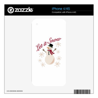 Let It Snow Skin For The iPhone 4S