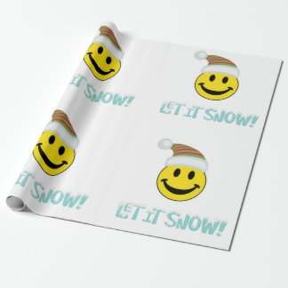 Let It Snow Smiley Face Wrapping Paper