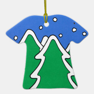 Let it snow!, Snow covered Christmas trees Christmas Tree Ornaments