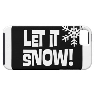 Let it Snow snowflake text iPhone SE/5/5s Case