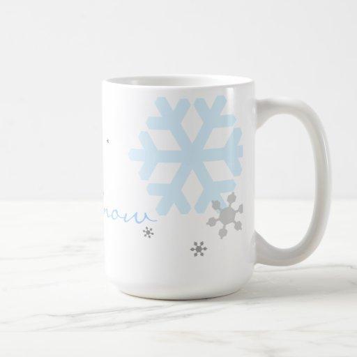 Let It Snow Snowflakes Mug - Text Template