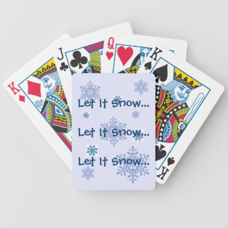Let It Snow Snowflakes Playing Cards Bicycle Playing Cards