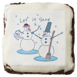 Let it Snow Snowlady & Her Snowman 2 Brownie