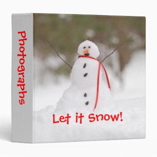 """Let it Snow Snowman 1.5"""" Photo Album Binder"""