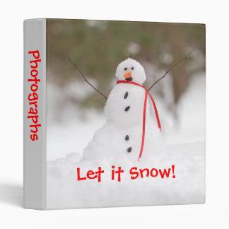 """Let it Snow Snowman 1"""" Photo Album Binder"""