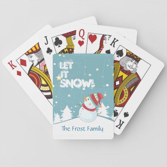 Let it Snow, Snowman Christmas Cards