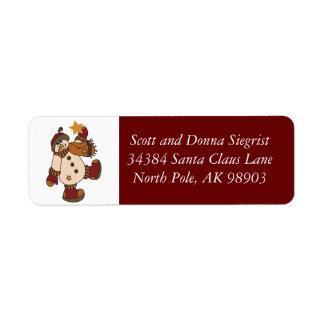 Let It Snow Snowman   Christmas Label