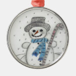Let It Snow Snowman Christmas Tree Ornaments