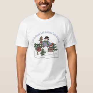 Let It Snow Snowman Family Ladies Casual Nightie  T-Shirt